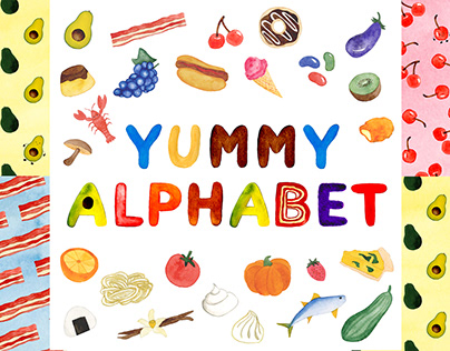 Children's Alphabet Book with Food