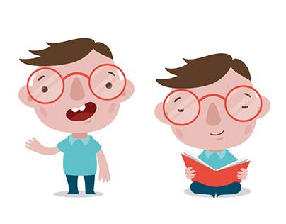 Mascot design for kid's e-learning