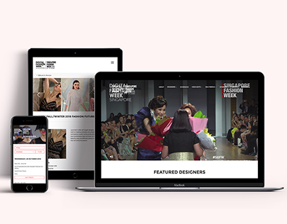 Web Design for DFW 2016 (www.digitalfashionweek.com)