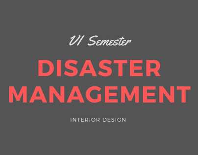 Disaster Management Design