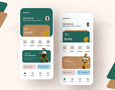 Mobile Wallet Home Page Exploration