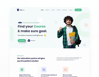 Clasrom : Education Based Landing Page