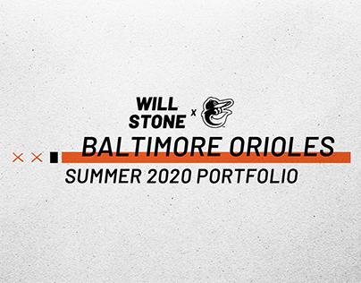Baltimore Orioles Summer 2020 Internship