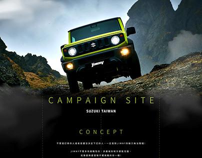SUZUKI TAIWAN JIMNY Campaign Site