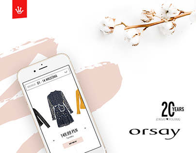 ORSAY 20 years - promo website + digital marketing