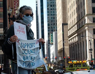 Pro/Anti-Quarantine Protest 05-01-2020