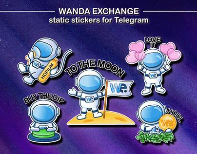 Сrypto stickers for Wanda Exchange Telegram