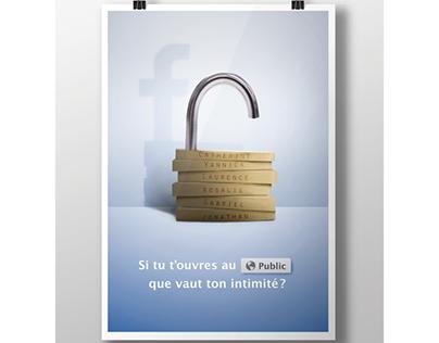 Affiche sociétale - Protège ton intimité