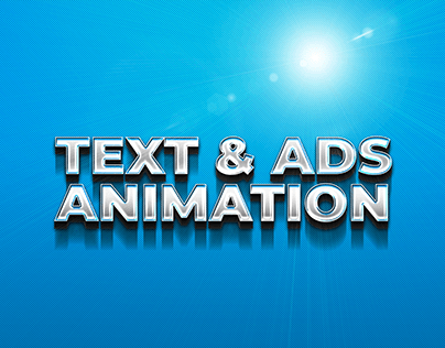 Text and Social Media Ads Animation