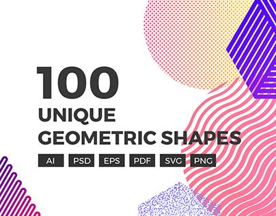100 Unique Geometric Shapes
