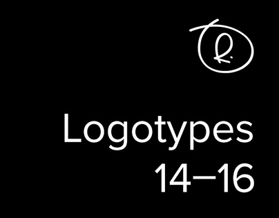 Logotypes. Selected works. 2014–16