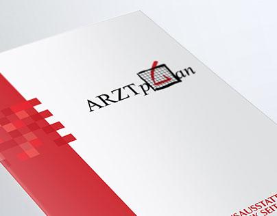 Medical folder, letterhead and business card