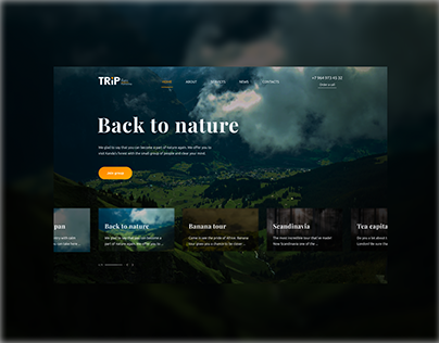 Trip - travel agency website
