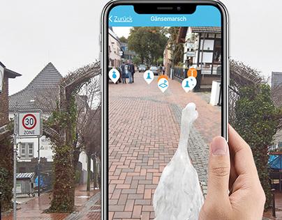 MonChronik geobased augmented reality app