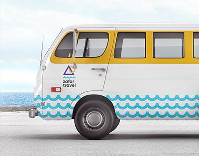 Zafar Travel logo identity