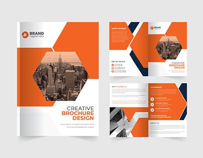 Corporate business brochure design template