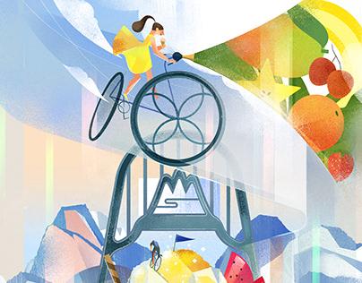 Taiwan tourism calendar 2021 交通部觀光局月曆「 自行車旅遊年 」