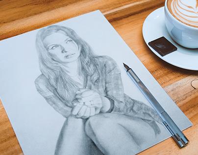 Grey Pencil Drawing