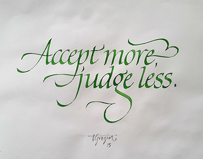 Italic Calligraphy Experiments