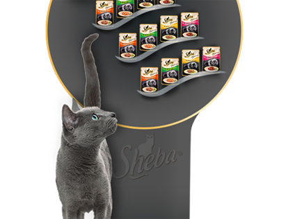 Cat food stand
