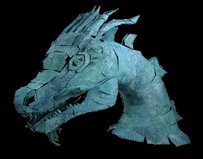 Paper Dragon Head