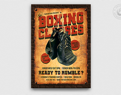 Boxing Classes Flyer Template