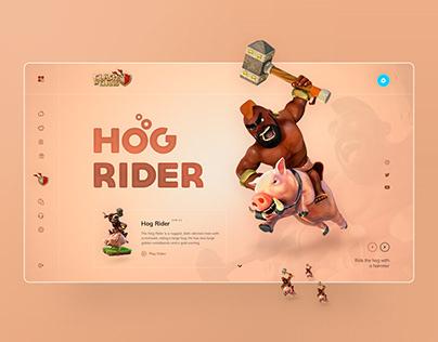 Hog Rider UI design concept