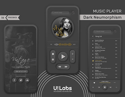 Dark Neumorphism UI Concept