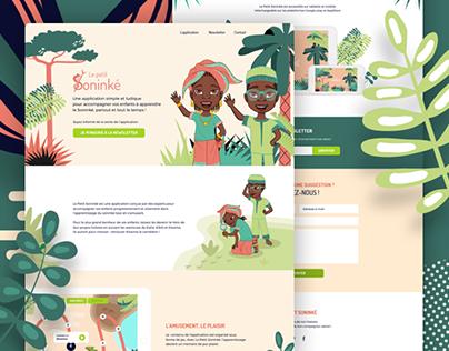 Le Petit Soninké - Landing Page