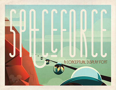 SPACEFORCE - A conceptual display font