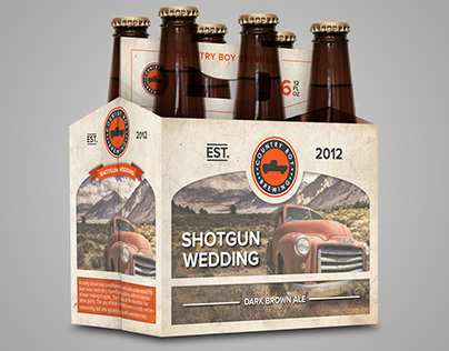 Mockup packaging for Country Boy Brewing