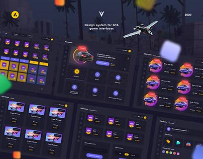 Vance RP Design system fo GTA UI Inetface