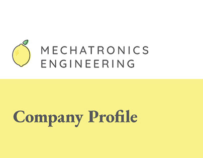 Mechatronics Engineering Company Profile Brochure