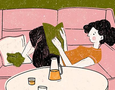 Weekend Laze | Illustration