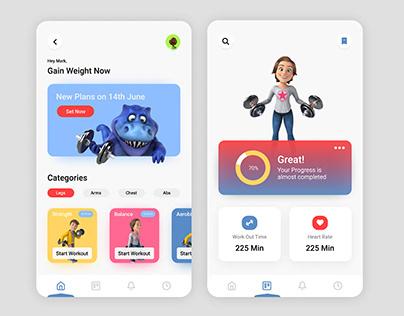 Fitness app ui design
