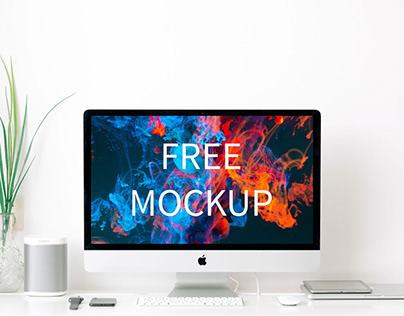 Free iMac Mockup (PSD freebie)