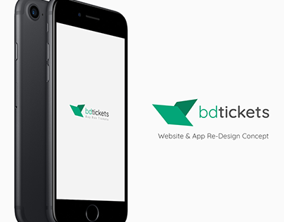 Bdtickets - Website & App Redesign Concept