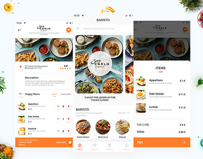 we are happy to share our another food app design.