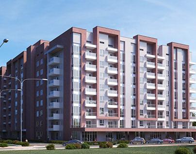 Residential complex on Tien Shan street, Almaty