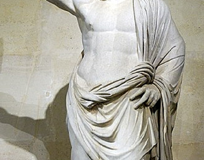 In mythology, great warriors are often introduced wield