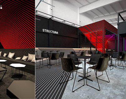 "Design concept for the club restaurant ""STRUCTURA"""