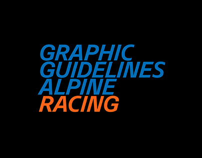 Graphic Guidelines — Alpine Racing