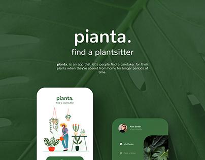 pianta. Concept UI Design