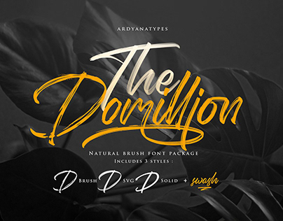 The Domillion Brush Script Font Free Download