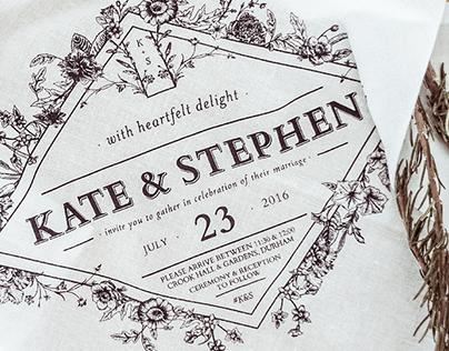 Kate & Stephen Wedding Invitation