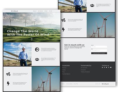 Website UI - WindTurb