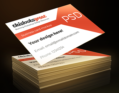 Business Card Mockup Feebie PSD