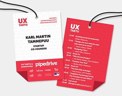 UX Tartu 2019 Visual Identity Refresh
