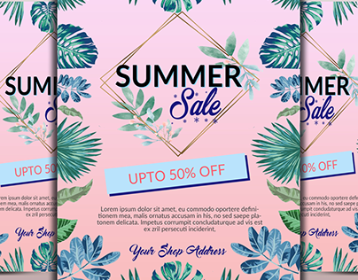 Summer Sale Offer Flyer