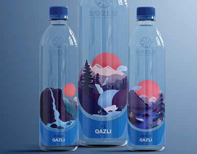 """""""Buzlu -mineral water"""" Packing & Poster Design"""